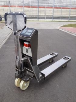 Wózek paletowy z wagą KPZ 71-7N INOX z panelem KPZ 52-9-2