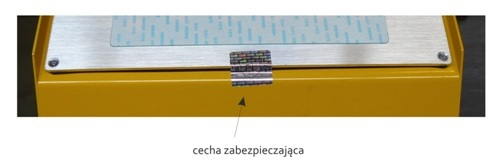 Cechy legalizacyjna wózka paletowego z wagą.