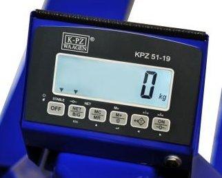 Panel KPZ 51-19 wózek z wagą.