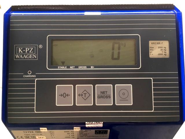 wozek pletowy z wagą, panel KPZ 52 E7