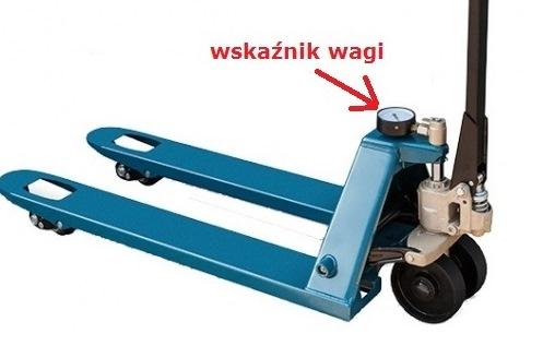 Wózek paletowy ze wskaźnikiem wagi